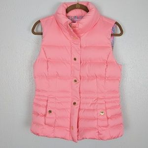 Lily Pulitzer Down Feather Vest w/Cinched Waist M